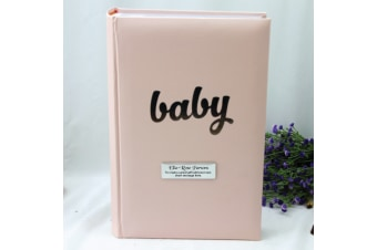 Personalised Baby Girl Photo Album 300 Pink