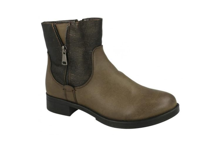 Spot On Womens/Ladies Mid Heel Ankle Boots (Brown) (UK 6)