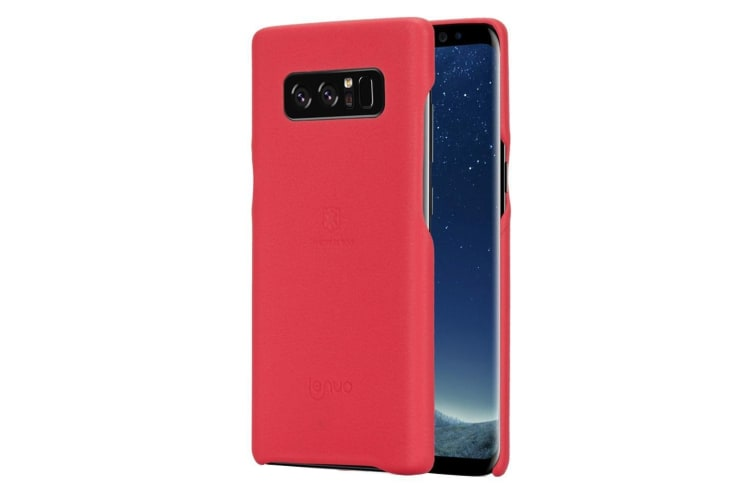 For Samsung Galaxy Note 8 Case Elegant Lychee Leather Protective Cover Red