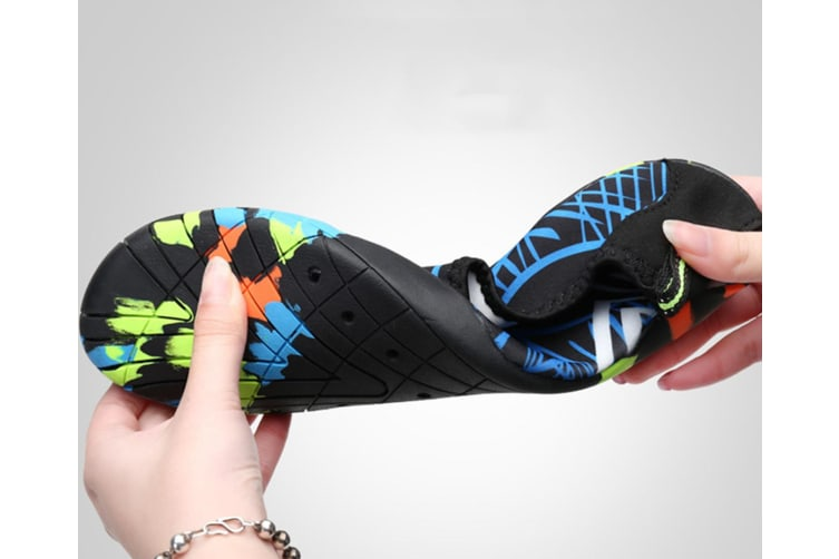 Beach Snorkeling Shoes Diving Lovers Wading Shoes Swimming Shoes 988 Black 45