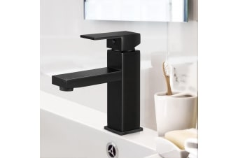 Cefito Bathroom Taps Mixer Tap Faucet Basin Vanity Above Counter Brass Black