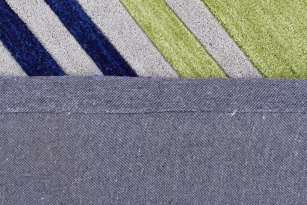 Modern Abrash Stripes Rug Blue Green 225x155cm