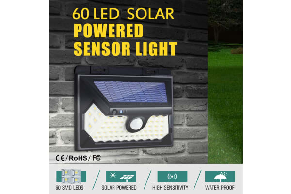 60 LED Solar Light Outdoor Motion Sensor Light 800LM Garden Security Floodlight