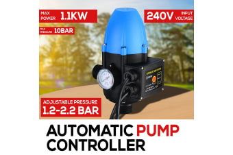 WATER PUMP PRESSURE SWITCH AUTOMATIC ADJUSTABLE PRESSURE 10 BAR 1.1KW CONTROLLER