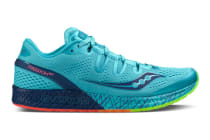 Saucony Women's Freedom ISO Running Shoe (Blue/Citron)