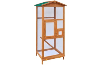 vidaXL Bird Cage Wood 65x63x165 cm
