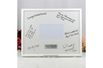 Personalised Birthday Signature Frame Black / White 4x6 Photo