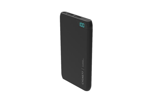 Cygnett ChargeUp Boost 5,000 mAh Dual USB 2.4A Power Bank - Black (CY2499PBCHE)