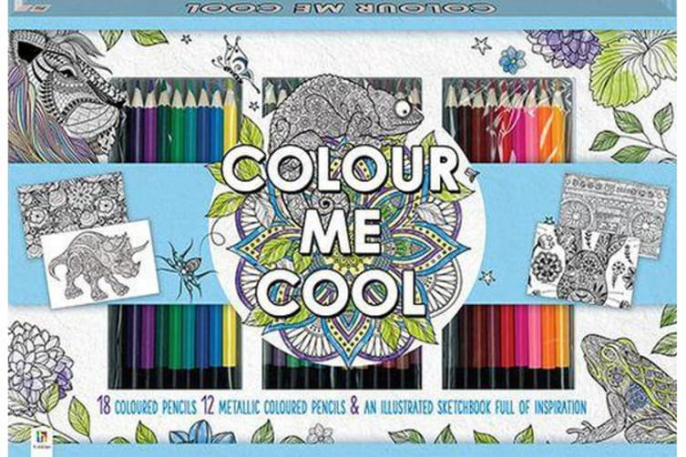 Colour Me Cool Colouring 30-Pencil Set (UK)