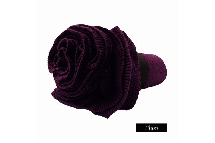 Double Ruffle Throw Plum by Accessorize