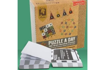 Rubik`s Puzzle A Day Desk Block | 365 Boredom-Busting Tear-off Puzzles