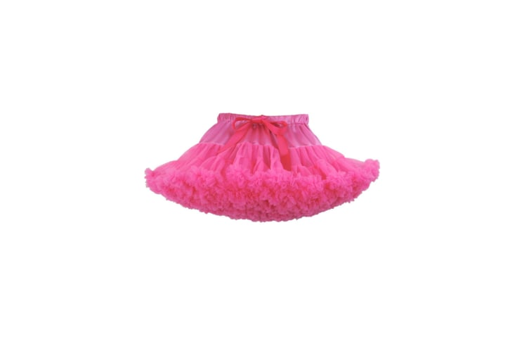 Baby Little Girl'S Pettiskirt Princess Tulle Skirt Party Wear - 7 Red XS