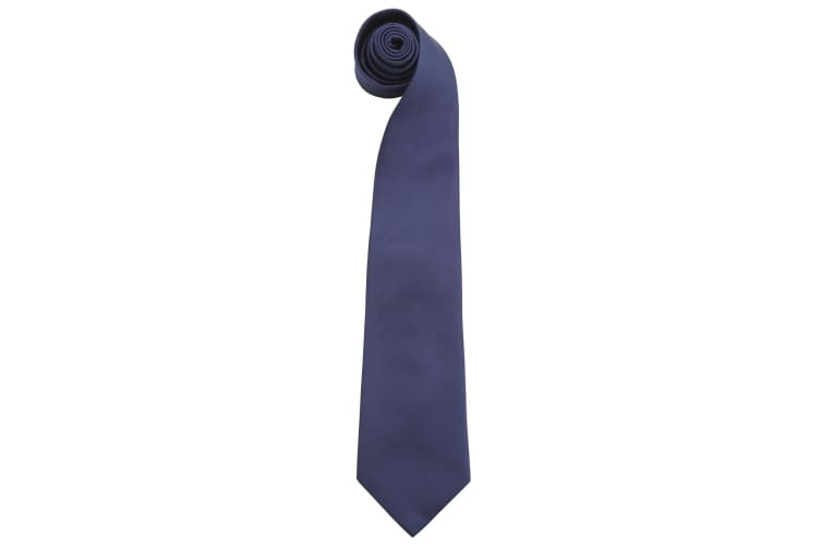 "Premier Mens Fashion ""Colours"" Work Clip On Tie (Navy) (One Size)"