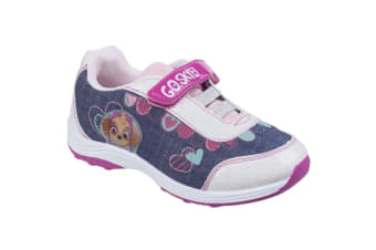 Leomil Childrens Girls Skye Touch Fastening Sport Paw Patrol Trainers (White/Blue)
