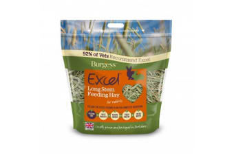 Burgess Excel Long Stem Feeding Hay (1kg) (Green)