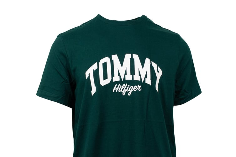 Tommy Hilfiger Men's Graphic Tee (Pine, Size S)