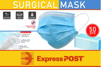 50 Pcs Disposable Surgical Dental Medical Face Mask 3-Layer (EXPRESS SHIPPING)