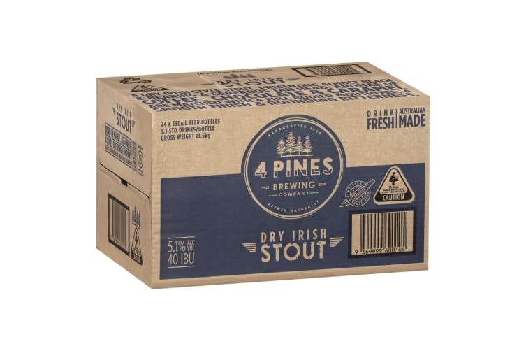 4 Pines Stout Beer 24 x 330mL Bottles