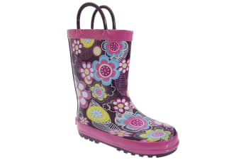 Cotswold Childrens Puddle Boot / Girls Boots (Flower) (25 EUR)