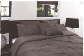 Royal Comfort 7pcs Pleat Comforter Set -double Charcoal