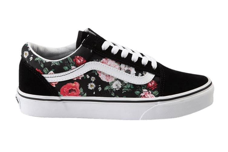 Vans Women's Old Skool Garden Floral Shoe (Black/True White, Size 7 US)