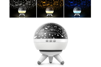 WJS Creative Rotatable Starry Sky Projection Lamp Romantic LED Rotating Ocean Projector Night Light-6
