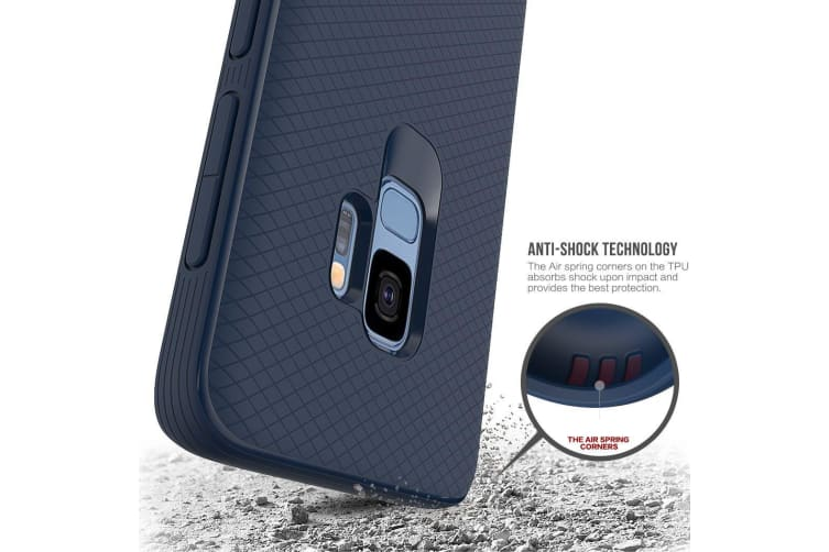 For Samsung Galaxy S9 Armour Case Snap Blue Armor Shock Proof Light Slim Cover