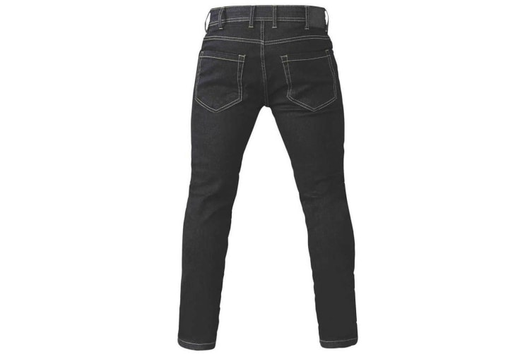 Duke Mens Claude King Size Tapered Fit Stretch Jeans (Black) (54L)