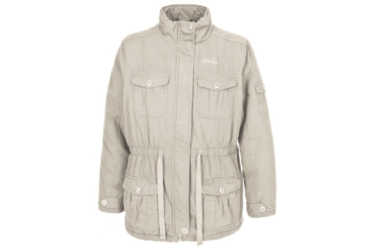 Trespass Womens/Ladies Lakewood Casual Canvas Jacket (Sandy) (XL)