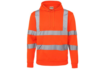 RTY High Visibility Unisex Reflective Hoodie (Pack of 2) (Fluorescent Orange)