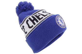 Chelsea FC Official Cuffed Knitted Winter Beanie Hat (Multicoloured)