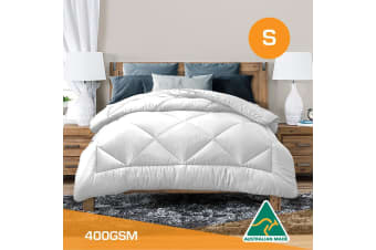 Single Size Aus Made All Season Soft Bamboo Blend Quilt White Cover