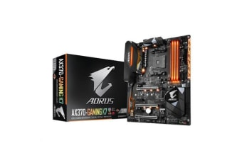Gigabyte GA-AX370-Gaming K7 ATX Form For AMD Ryzen Socket AM4. AMD X370 Chipset 4X DDR4-3200 M.2