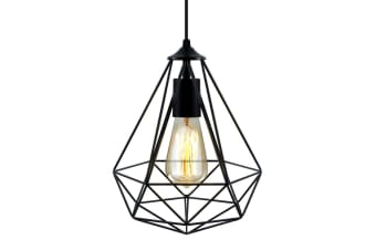 Artiss Metal Pendant Light Modern Ceiling Lighting Industrial Wire Lamp Black