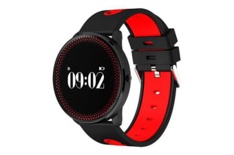 "Bluetooth V4.0 Smart Watch 0.96"" Oled Heart Rate Blood Oxygen Red"
