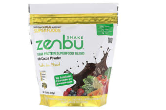 California Gold Nutrition, Zenbu Shake Vegan Protein Superfood Blend with Cocoa Powder 675g