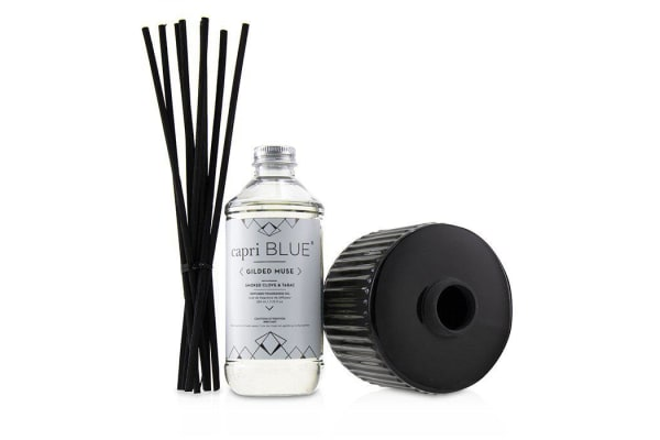 Capri Blue Gilded Muse Reed Diffuser - Smoked Clove & Tabac 230ml/7.75oz