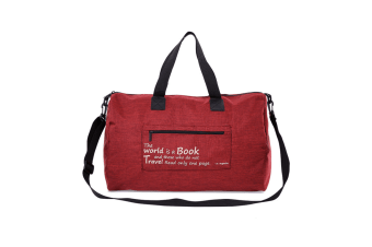 Travel Folding Bag Thickened Waterproof Large Capacity Receiving Bag - Red Red