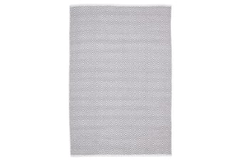 Villa Modern Diamond Rug Grey 220x150cm
