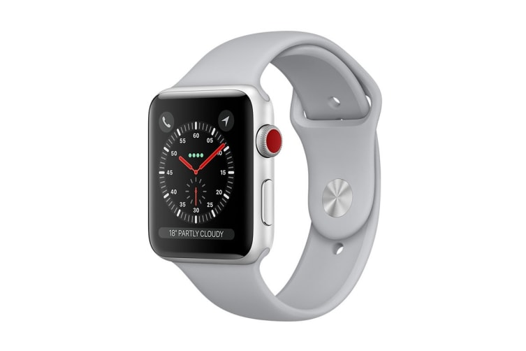 Apple Watch Series 3 (42mm, Silver, Fog Sport Band, GPS + Cellular) - AU Model