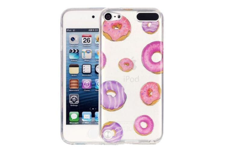 new style 1987f 5c240 For iPod Touch 5 Case Cute Stylish Slim Doughnut Transparent Protective  Cover