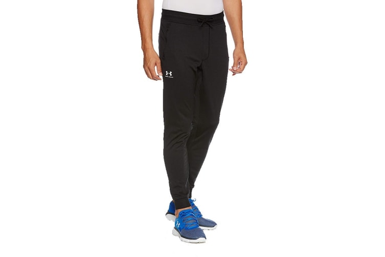 Under Armour Men's Sportstyle Joggers (Black/White, Size Small)