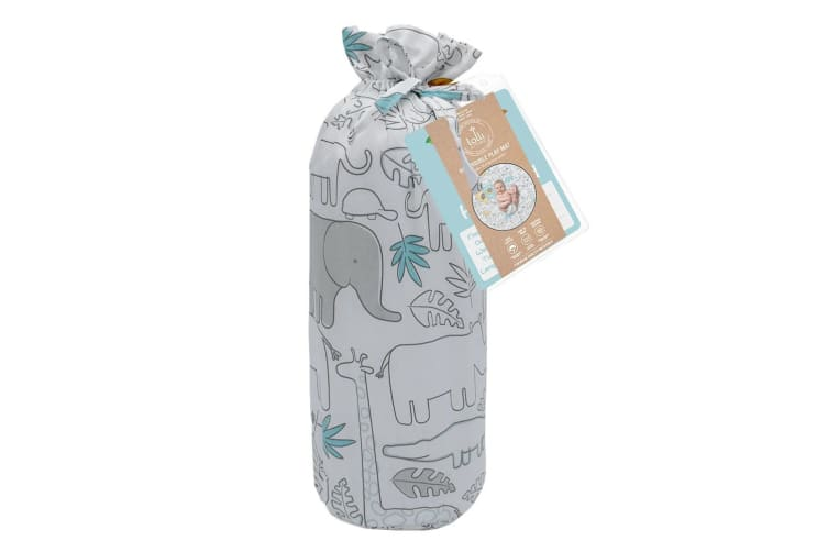 Lolli Living Kids Baby Round Play Mat W Milestone Cards Urban Safari