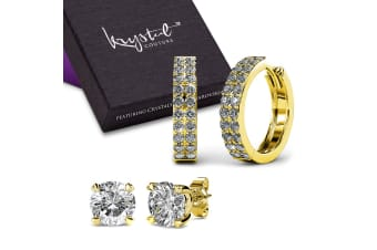 Boxed Magnifico Earrings Set Embellished with Swarovski crystals