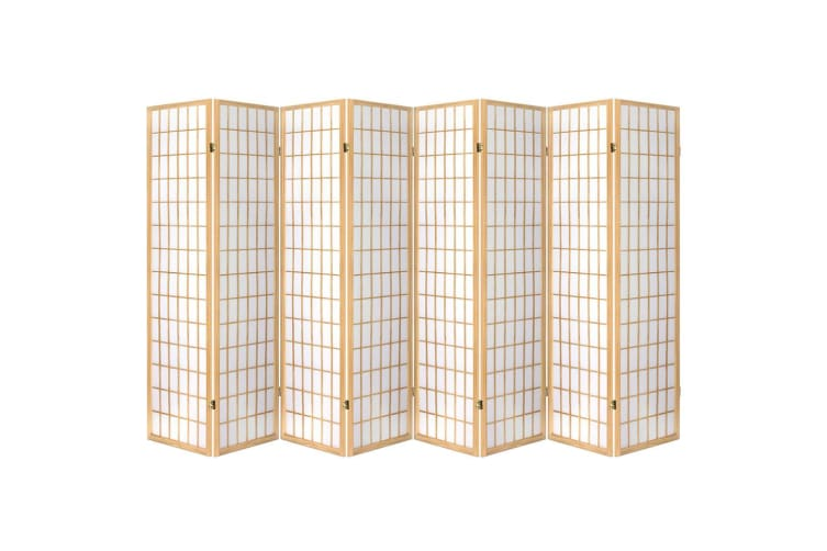 Artiss 8 Panel Room Divider Screen Privacy Dividers Wood Stand Oriental Natural