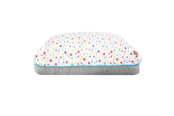 Rectangular Pet Pad - Rainbow Dots S-66 x 54 x 14cm