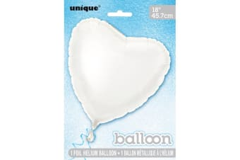 Unique Party Heart Foil Balloon (Pack Of 5) (White) (18in)