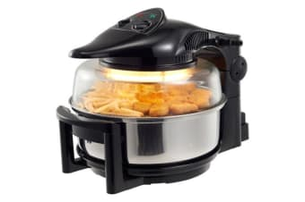Super Chef Air Fryer Rotary Rotating Rotisserie Convection Oven 12L - Black
