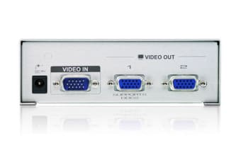 Aten 2 Port Video Splitter 250Mhz 1920x1440@60Hz Upto 65m
