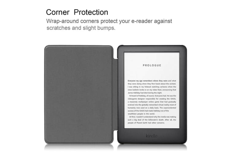 Smart Stand Case For Amazon All New Kindle 2019 10th Gen PU Leather Folio Cover-Darkblue